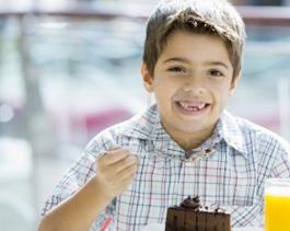 Kid enjoying food